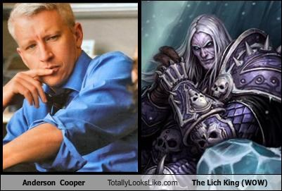 Anderson Cooper Totally Looks Like The Lich King Wow Cheezburger