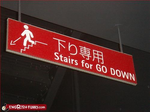 down,g rated,signs,stairs