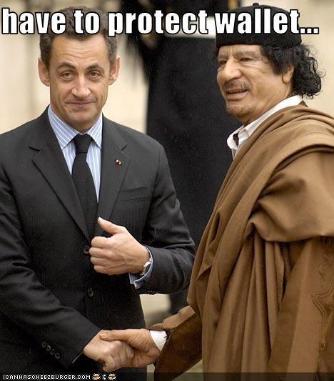 dictator,france,homeless,libya,muammar al-gaddafi,Nicolas Sarkozy,president