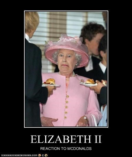horror McDonald's Queen Elizabeth II UK - 2842579968