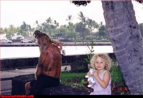 Awkward dirty dreadlocks Hawaii homeless kid Photo - 2844247296