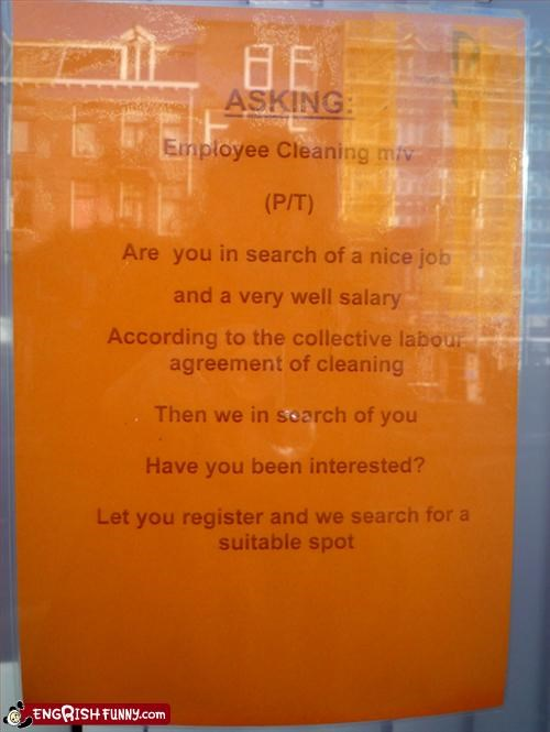 agreement,ask,cleaning,collective,employee,g rated,job,labor,search,signs