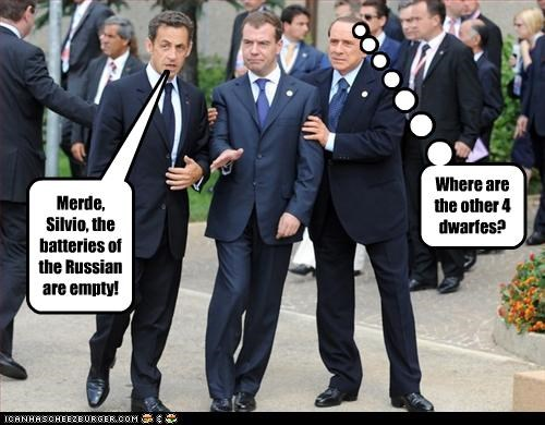 Merde, Silvio, the batteries of the Russian are empty! Where are the other 4 dwarfes?