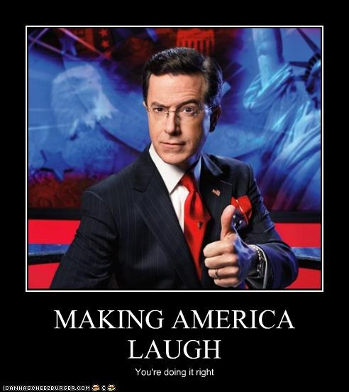 MAKING AMERICA LAUGH You're doing it right