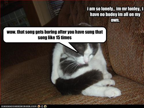 i am so lonely    im mr lonley   i have no bodey im all on