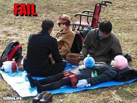 creepy girlfriend Japan picnic real dolls - 2847155200