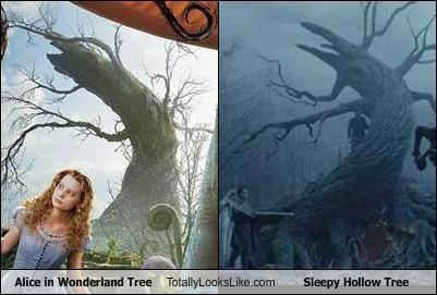 alice in wonderland sleepy hollow tim burton tree