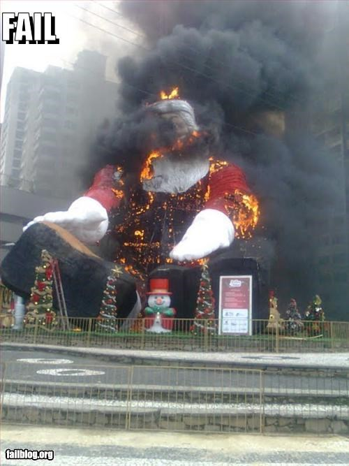 burn,fire,giant,g rated,santa