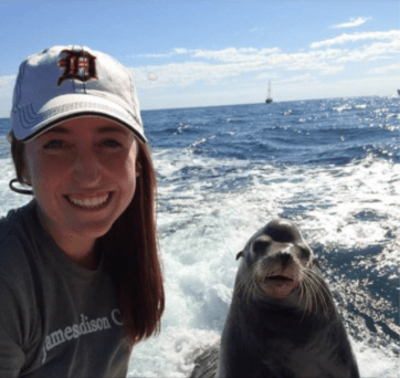 birthday wish for daughter standing next to a sea lion