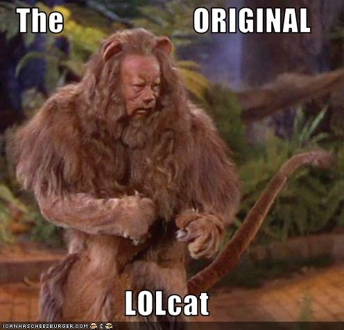 burt lahr Cowardly Lion lolcats the wizard of oz - 2852612096