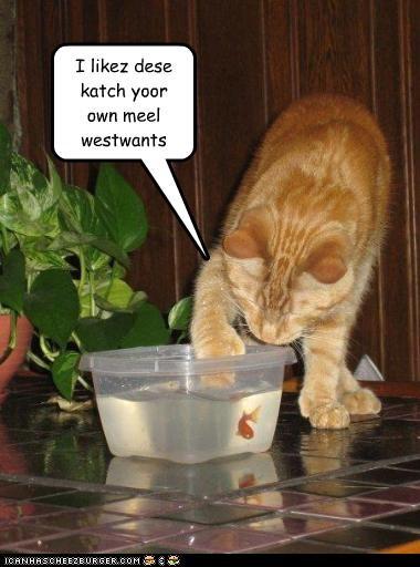 I likez dese katch yoor own meel westwants