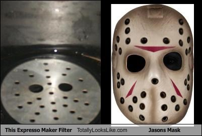 coffee maker,espresso,friday the 13th,hockey mask,horror,jason voorhees,movies