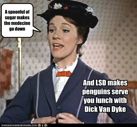 Dick Van Dyke drygs Julie Andrews lsd mary poppins - 2855395328