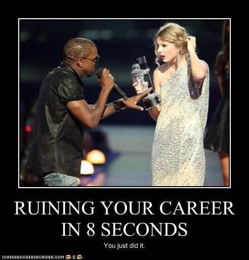 career,country,kanye west,rap,rapper,ruin,singer,taylor swift