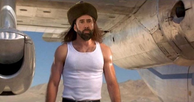 Collection of funny photoshop edits of Nicolas Cage's photograph in Kazakhstan, featuring Star Wars, Game of Thrones, Borat, Ikea fur coat monkey.