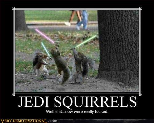 awesome Jedi lightsabers Pure Awesome squirrels