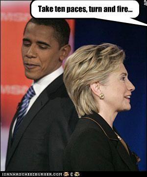 barack obama democrats fight Hillary Clinton president secretary of state - 2865560320