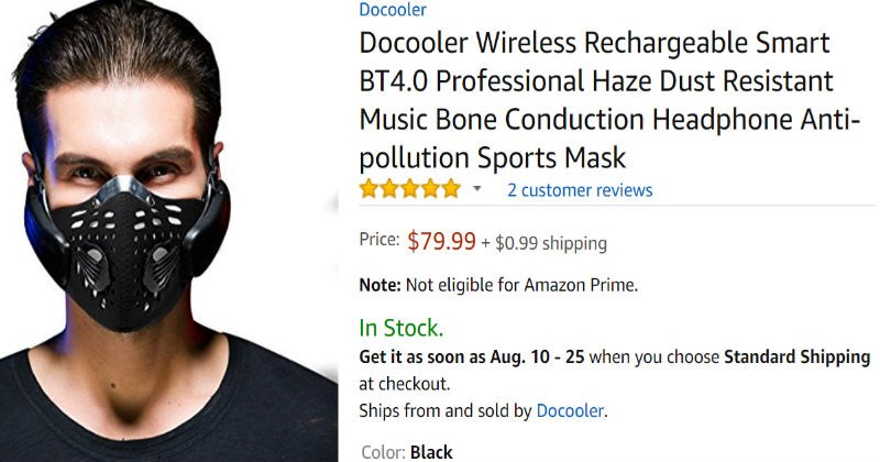 Guy looking for gas mask comes across a very funny review for one on Amazon.