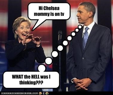 Hi Chelsea mommy is on tv WHAT the HELL was I thinking???