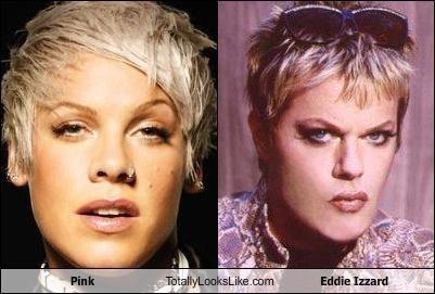 comedian,eddie izzard,pink,singers