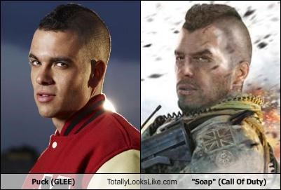 call of duty glee puck soap TV video games