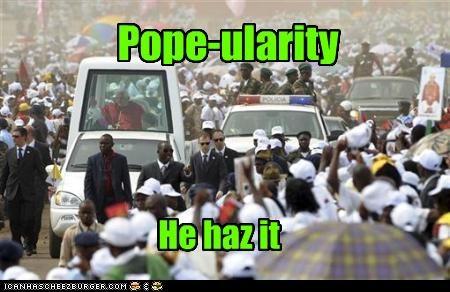 Pope-ularity He haz it