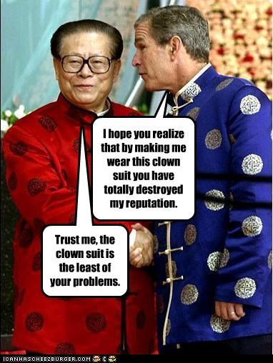 China george w bush jiang zemin president Republicans reputation - 2875154688