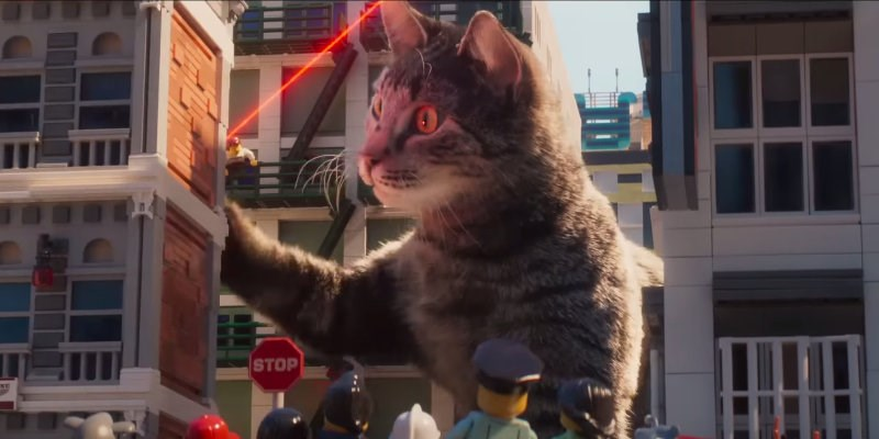 cat godzilla in the new lego movie trailer