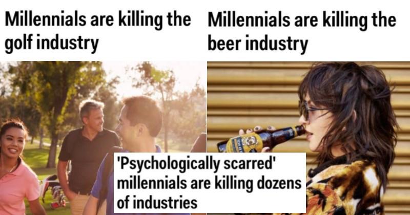 industries killed by millennials