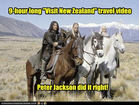 "9-hour long ""Visit New Zealand"" travel video Peter Jackson did it right!"