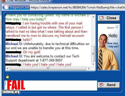 email g rated hate hotline tech support technical difficulties - 2881595648
