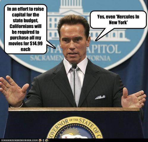 Arnold Schwarzenegger california Economics Governor movies