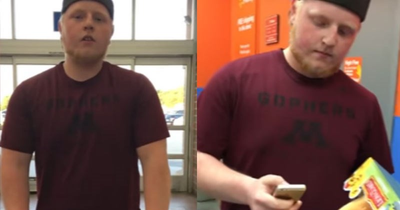 Video of Walmart Loss Prevention guy getting verbally attacked by customer who paid for everything.
