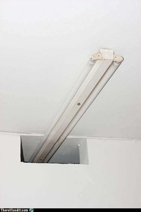 ceiling light,hole in the ceiling,saves money