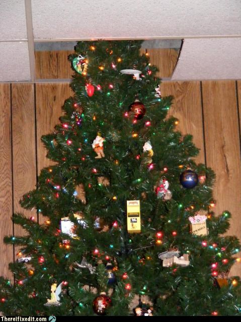 ceiling holiday make it fit Mission Improbable Xmas tree - 2891387904