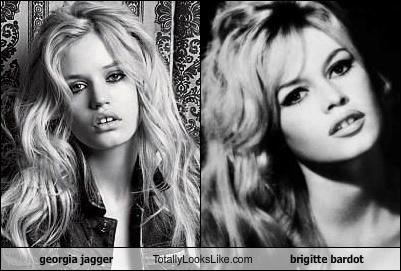 georgia jagger Totally Looks Like brigitte bardot