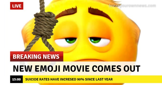 Collection of funny memes about the Emoji movie.
