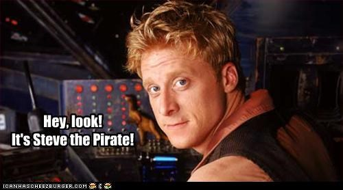 hey look it s steve the pirate cheezburger funny memes