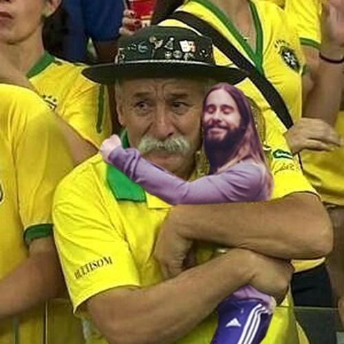 jared leto hugging memes