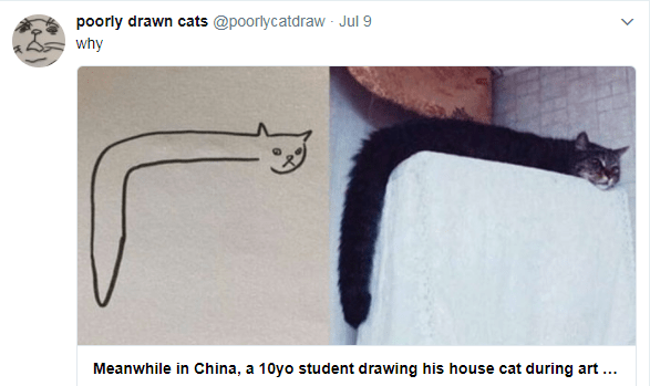 poorly drawn cats on twitter