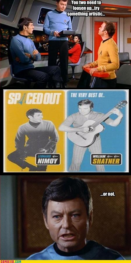 bones,jim,records,Spock,Star Trek