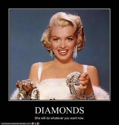 diamonds jewellry marilyn monroe - 2906097664
