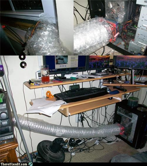 bubble wrap,computer,cooling,mod