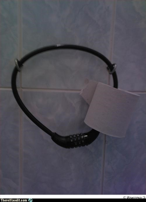 bathroom lock toilet paper