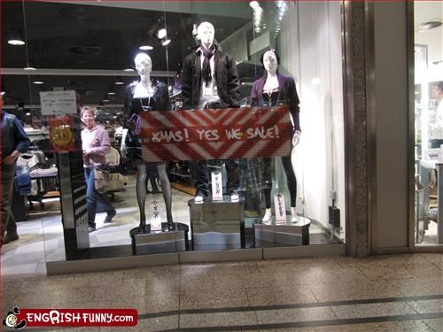 christmas clothing g rated sale signs store yes - 2909993728