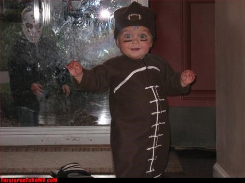 baby costume football halloween jason Kids are Creepers Too - 2911590912