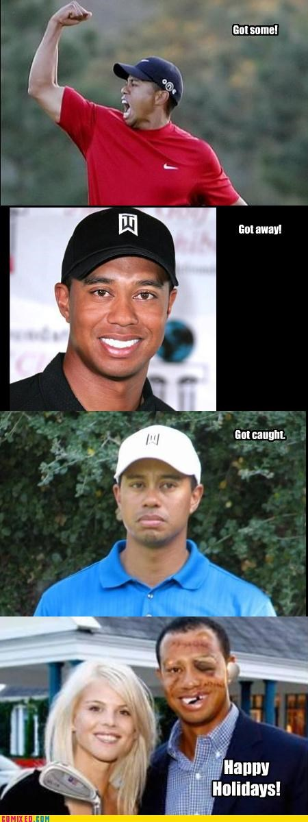beat up celebutard Tiger Woods