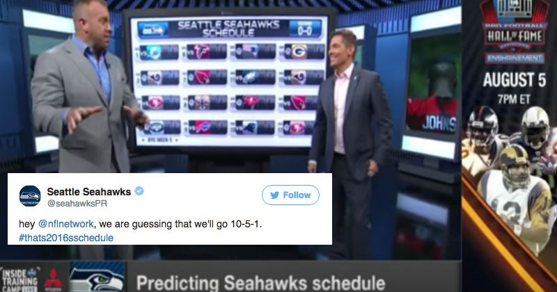 NFL Network spends an entire news segment predicting the wrong Seahawks schedule, and then gets roasted on Twitter.