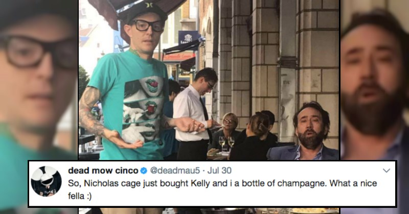 Deadmau5 musician has a random, funny encounter with Nicolas Cage and it's our favorite moment of 2017 to date.