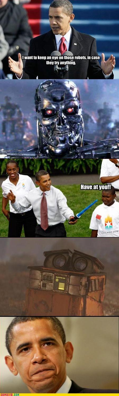 evil,obama,robots
